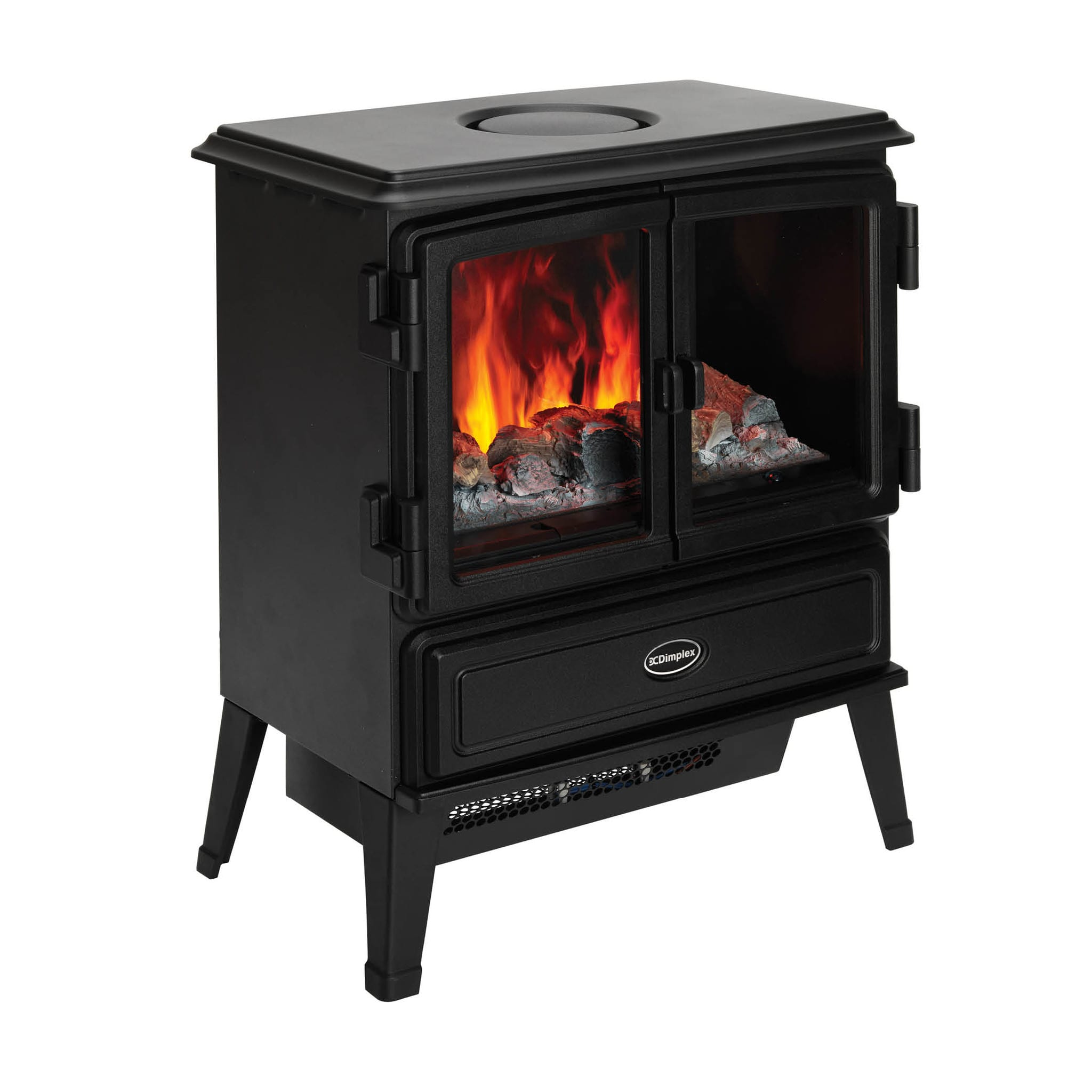 Electric Stove Heater ~ Dimplex oakhurst kw optimyst portable electric stove