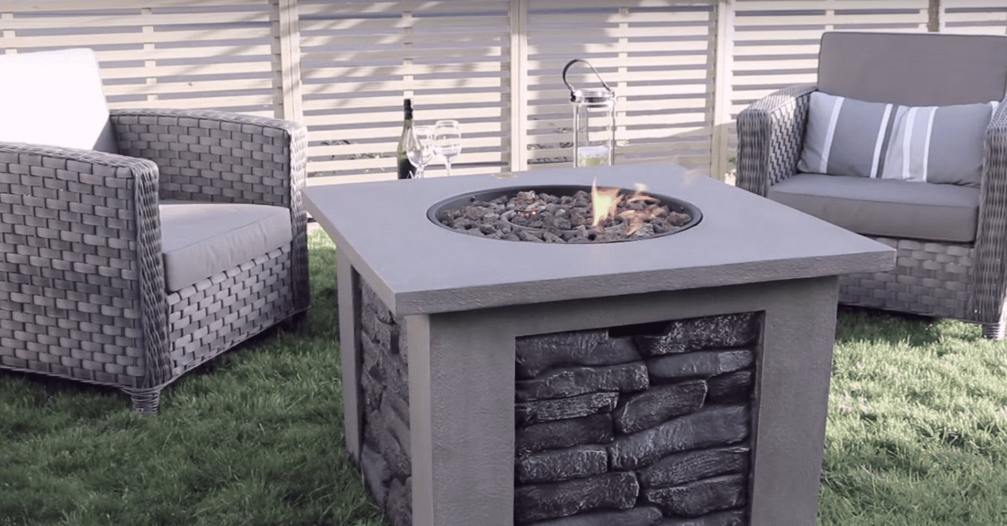 Gasmate Stone Gas Fire Table Turfrey