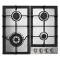 Parmco Hob 600mm Stainless Steel 3 Gas + Wok