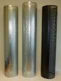 Flue Pipe Screen Painted Black 1/2 & 1/2 Mesh Front Reflector Backed