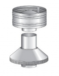 Fireplace Flue Stainless Steel Cowl & Cone Set Cowls