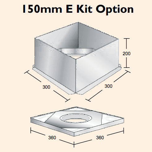 150mm E Kit Option - Convert Std Flue to Eco