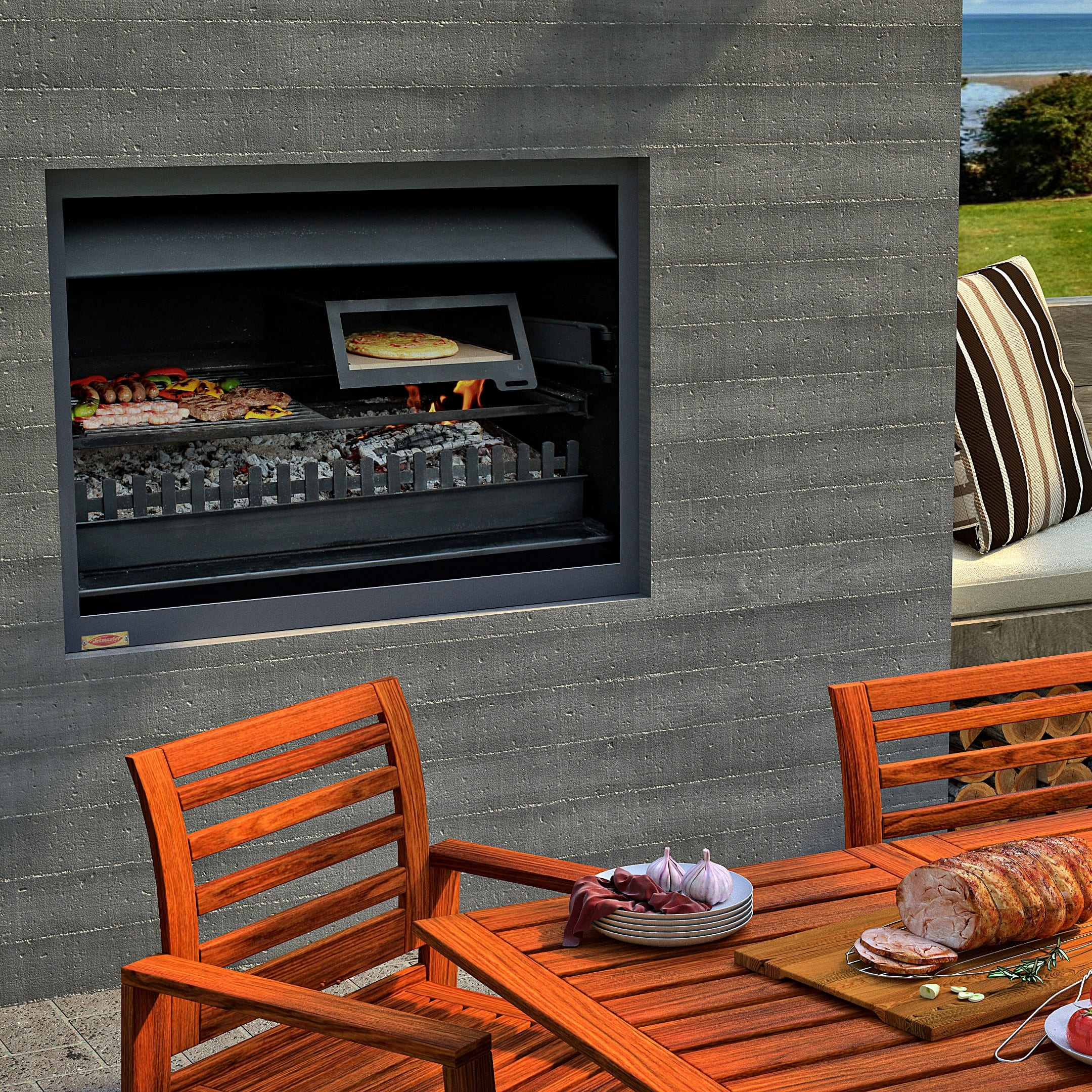 Jetmaster Quadro Outdoor Wood Fire Turfrey Nz