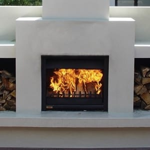 Jetmaster 700D Outdoor Alfresco Wood Fire Package Masonry Install