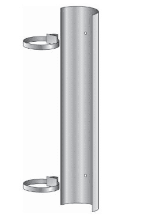 Flue Pipe Shield - Single Stainless Steel 1200mm