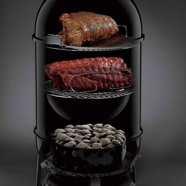 weber 47cm smokey mountain cooker turfrey bbq smokers nz. Black Bedroom Furniture Sets. Home Design Ideas