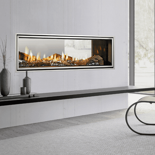 Fireplace Doesnt Heat: Heat & Glo Mezzo 1300ST See-Through Gas Fireplace