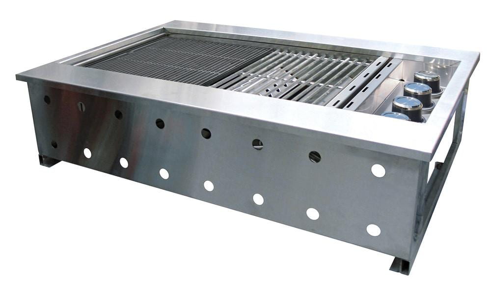 Stainless Steel Gas Ovens Gasmate Galaxy4 Burner Drop-In Flush Mount BBQ - Turfrey