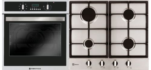 Verso 4 Pack 600mm Oven, 8 Function, Stainless Steel and 600mm Gas Cooktop