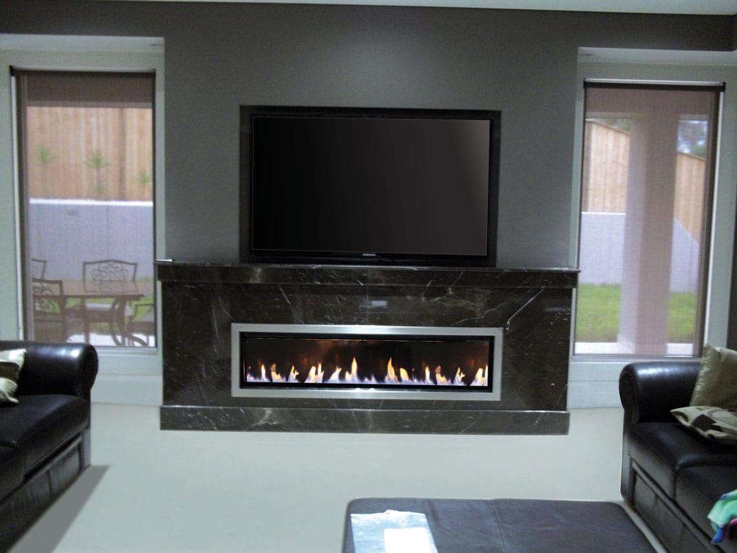 real flame landscape gas fire turfrey gas fires. Black Bedroom Furniture Sets. Home Design Ideas