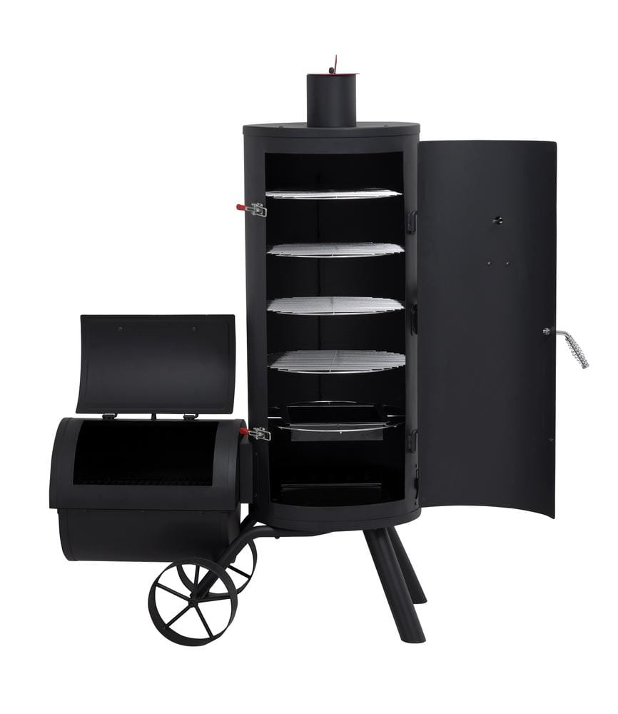Charmate Ned Offset Vertical Smoker Turfrey Offset