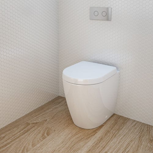 Caroma Urbane Compact Invisi Series II Wall Faced Toilet Suite