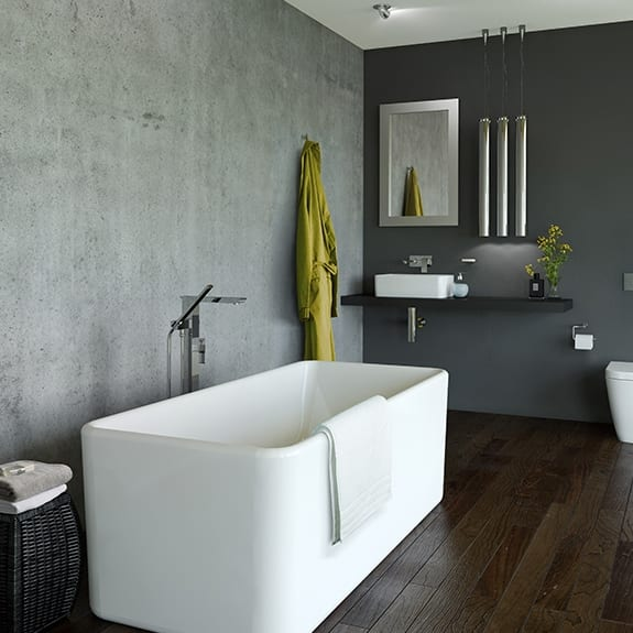Caroma cube 1600 freestanding bath turfrey for 1600 bath suite