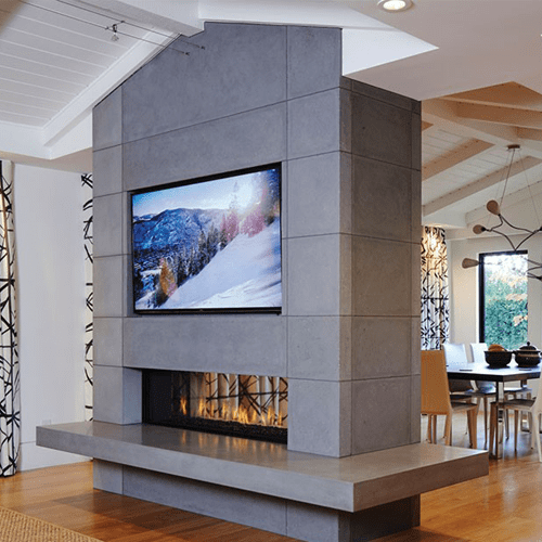 Ortal Clear 130 Tunnel Gas Fire