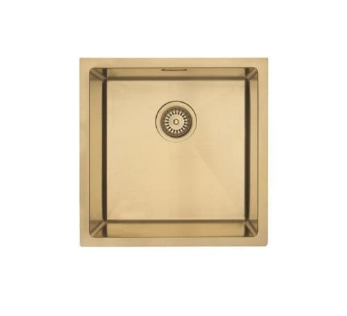 Mercer Aurora Single Bowl Sink - Brass Colour