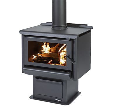 Masport R3000 Radiant Wood Burner with Pedestal Ash Pan
