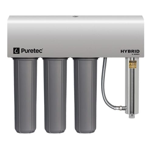 Puretec Triple Filtration and Ultraviolet All in Once Unit, 20 inch