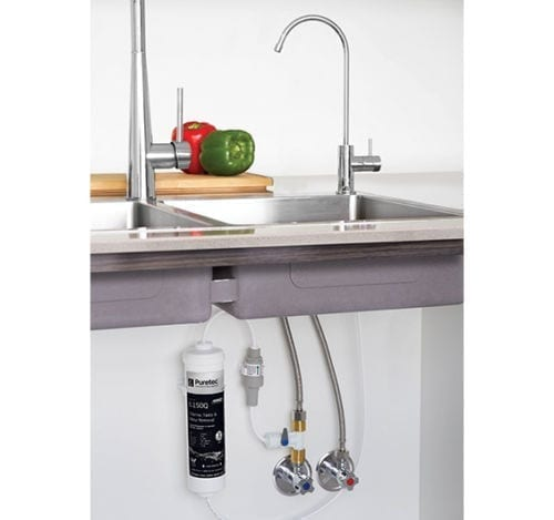 Puretec X4 Inline Filter with High Loop LED Faucet for Harsh Water