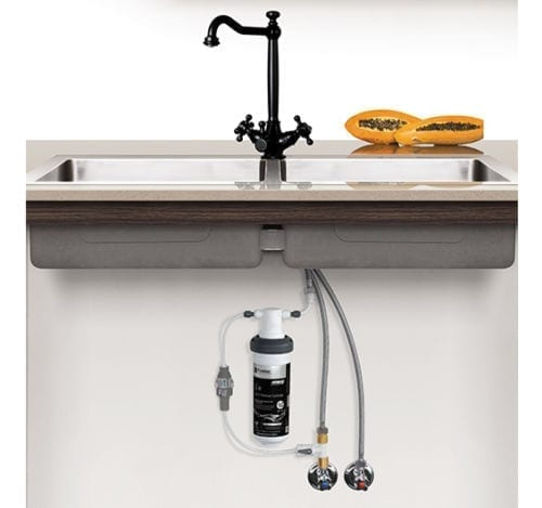 Quick Twist Undersink Filter System using Ultra Z Filtration Technology with Tripla Black Mixer Tap