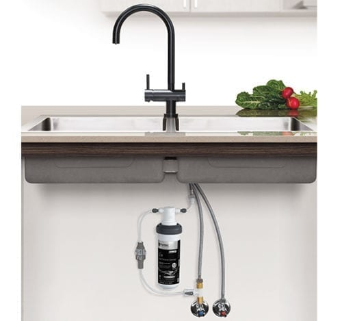 Puretec Z1-BL2 Quick Twist Undersink Filter with Tripla Black Mixer Tap