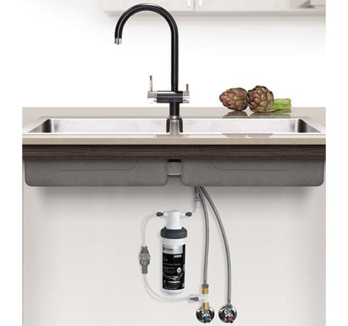 Puretec Z1-BL1 Quick Twist Undersink Filter System with Tripla Black Mixer Tap