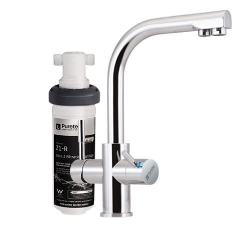 Puretec Z1-T3 Quick Twist Undersink Filter with Tripla™ T3 LED Mixer Tap