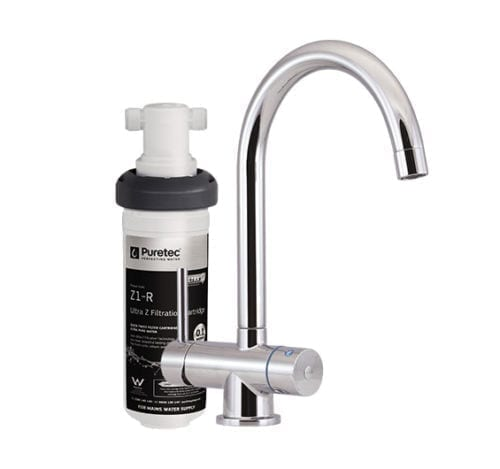 Puretec Z1-T4 Quick Twist Undersink Filter with Tripla™ T4 LED Mixer Tap