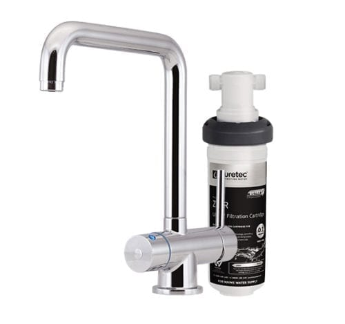 Puretec Quick Twist Undersink Filte with Tripla™ T5 LED Mixer Tap