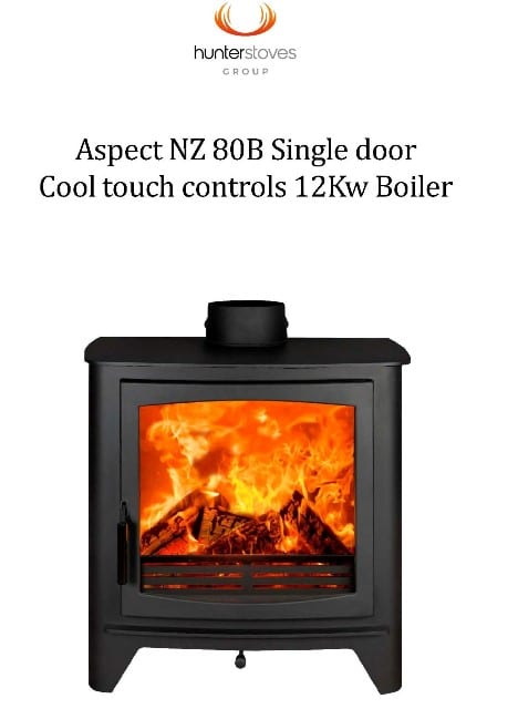 Hunter Aspect NZ 80B Single Door Wood Fire