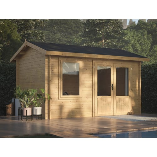 Log Cabin Garden House Iris 3.6m x 2.7m
