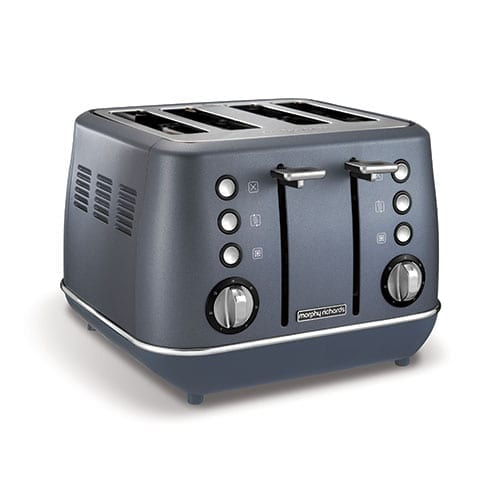 Morphy Richards Evoke Special Edition Blue Steel Toaster
