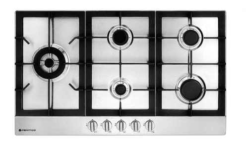 Parmco (HO-6-9S-4GW) Hob 900mm Stainless Steel 4 Gas + Wok