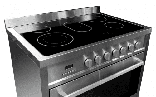 electric cooktop with downdraft 36