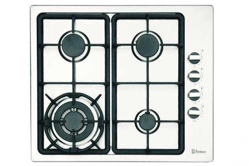 Parmco Hob, 600mm, Stainless Steel, 3 Gas+ Wok (HO-1-6S-3GW)