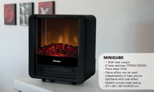 Dimplex 1.5kW Minicube Portable Electric Fire MINICUBE-B