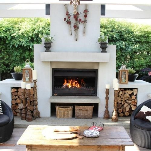 Jetmaster 1050LL Outdoor Alfresco Wood Fire Package Timber Cavity Install